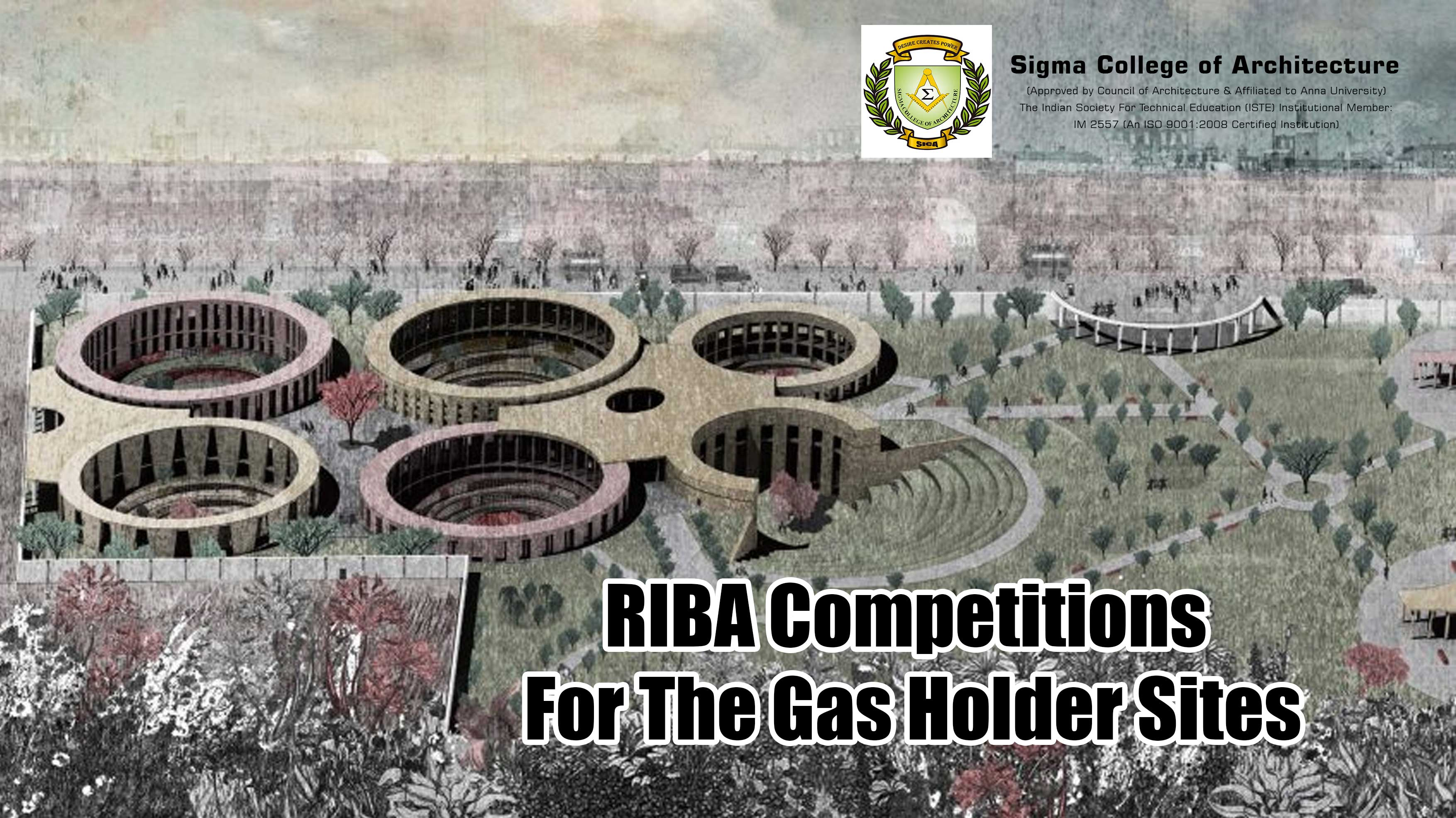 RIBA Competitions For The Gas Holder Sites