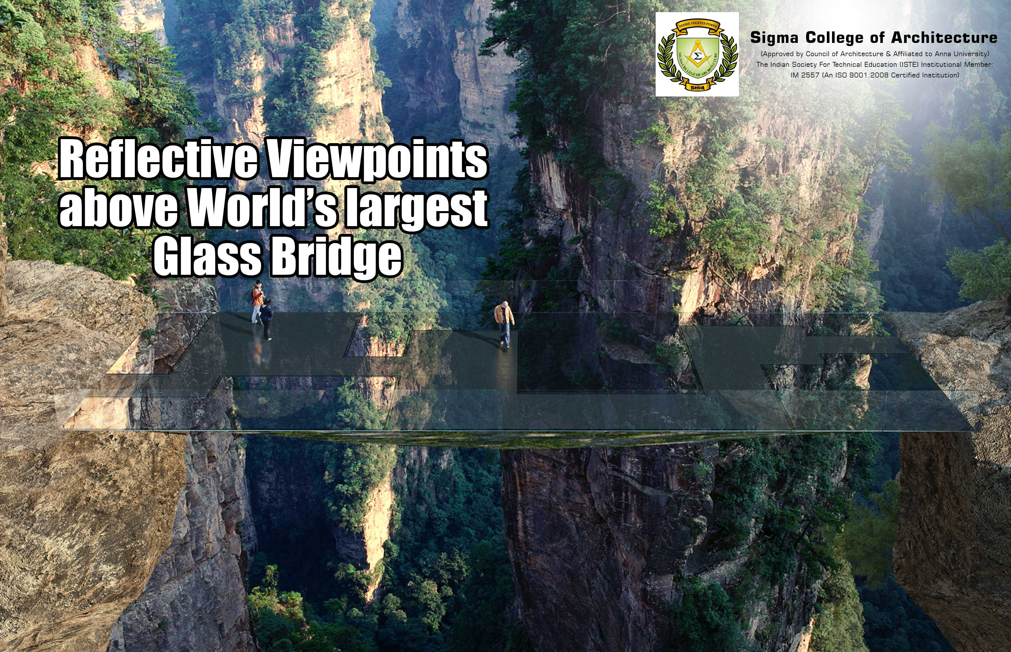 Reflective Viewpoints above World's largest Glass Bridge