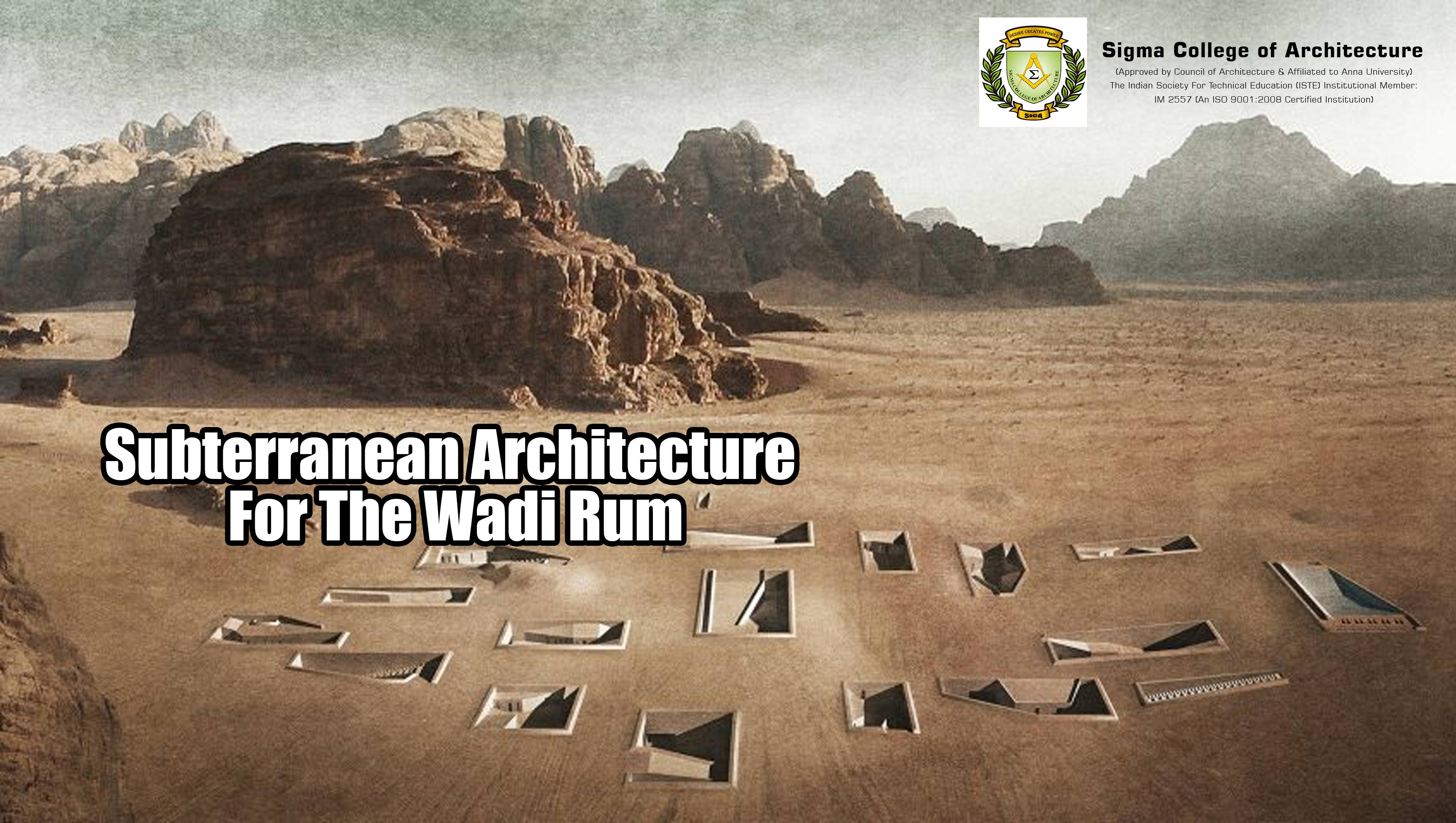 Subterranean Architecture For The Wadi Rum