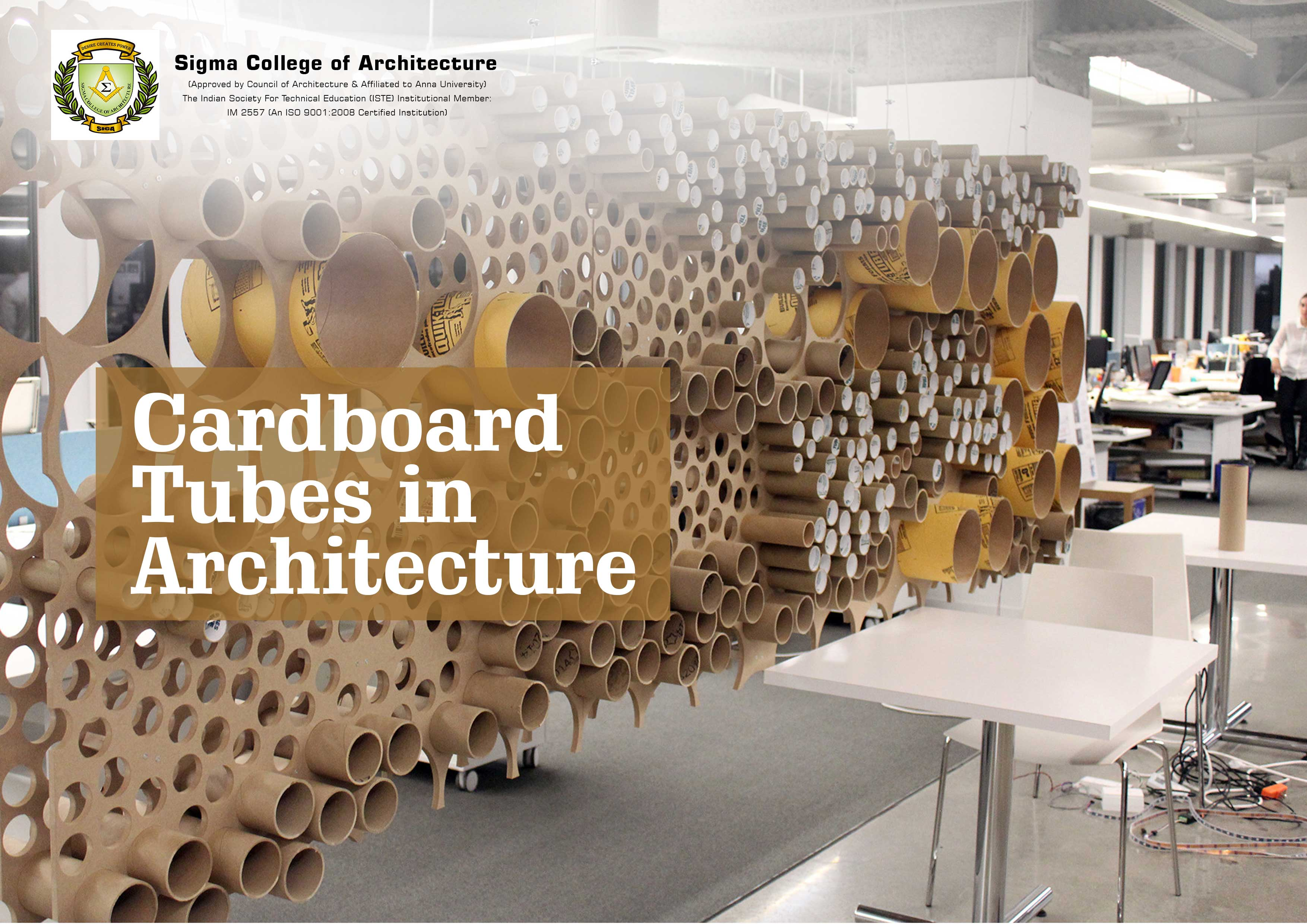 Cardboard Tubes in Architecture