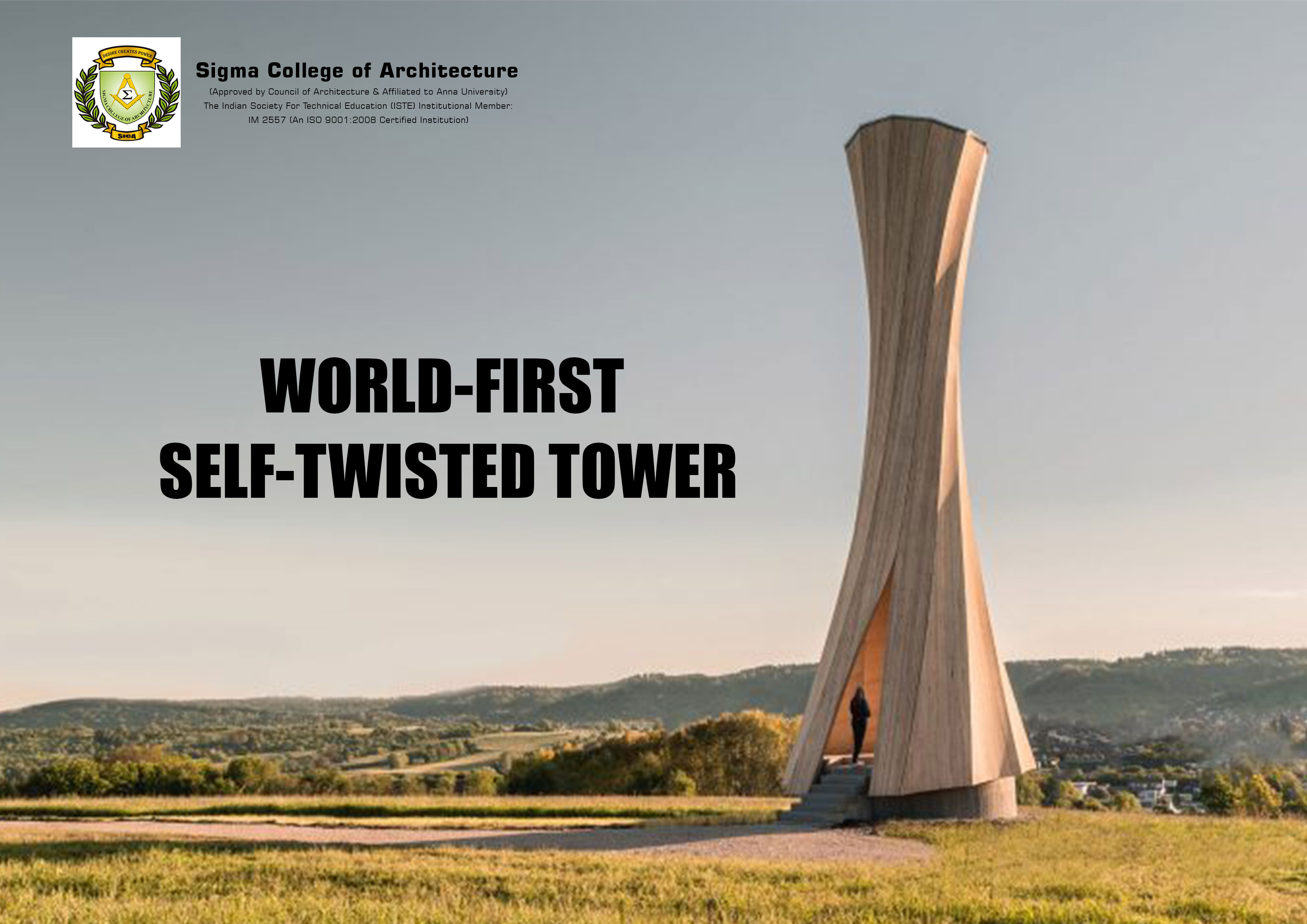 World-First Self-Twisted Tower