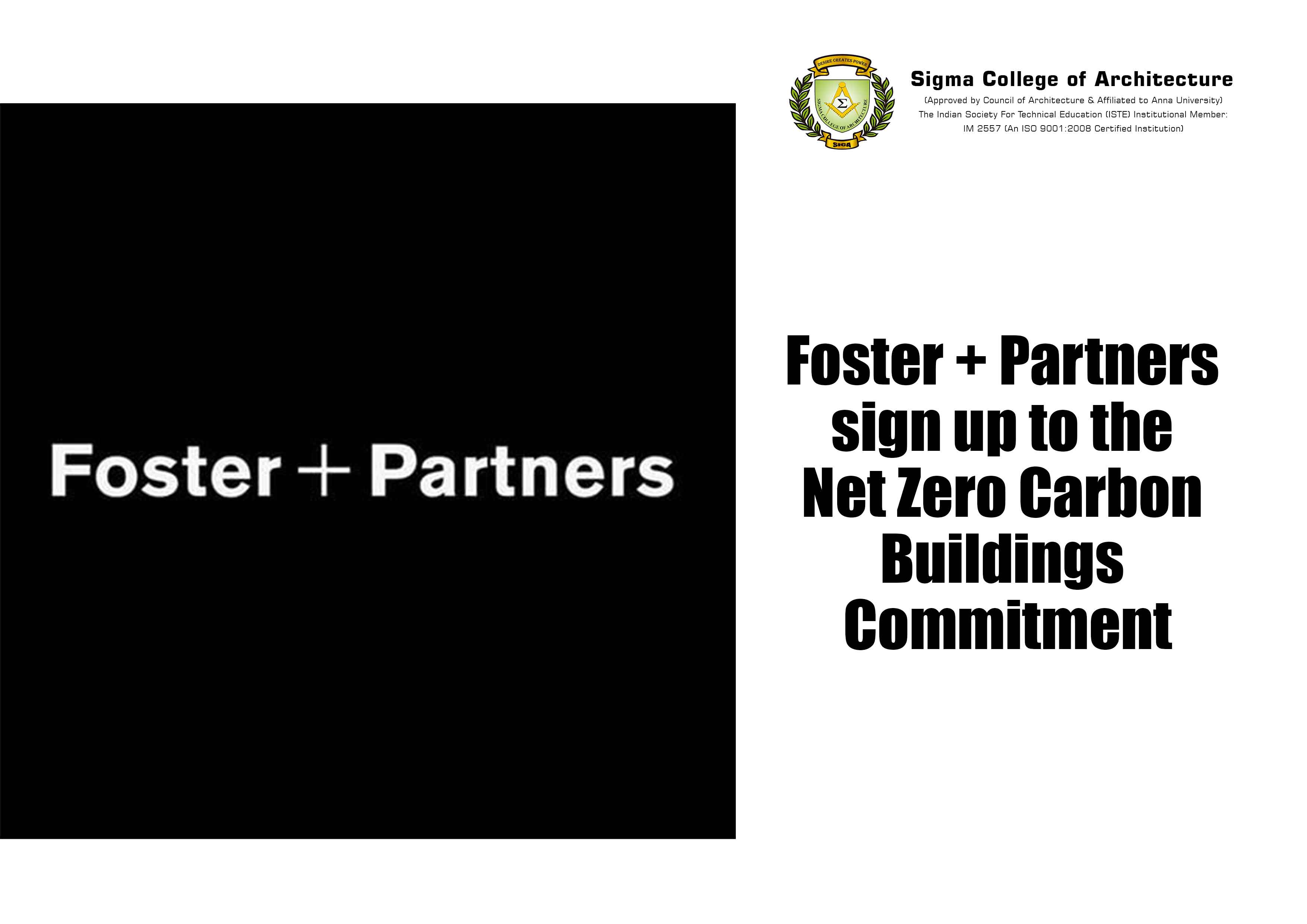 Foster + Partners sign up to the Net Zero Carbon Buildings Commitment