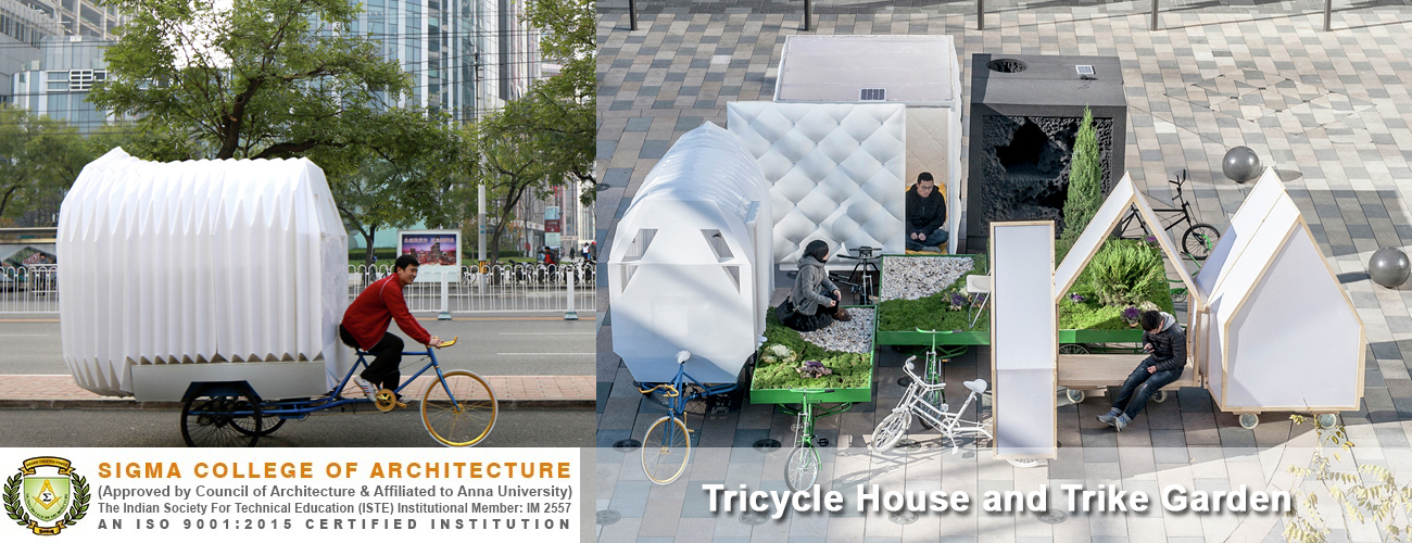 Tricycle House and trike Garden