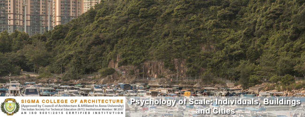 Psychology of Scale: Individuals, Buildings and Cities